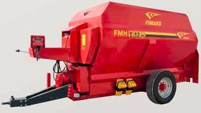 Remorca tehnologica cu descarcare frontala Fimaks model FMHI 12