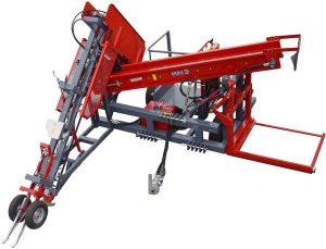 Masina de recoltat usturoi (1 rand) cu sistem de tocare ERME model RE1
