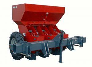 Masina de plantat usturoi - pe 2 randuri ERME model PLMD
