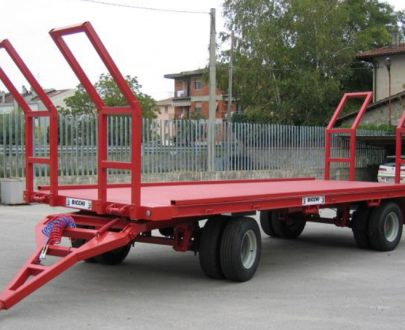 Remorca agricola pentru transport baloti Bicchi model 2A2B